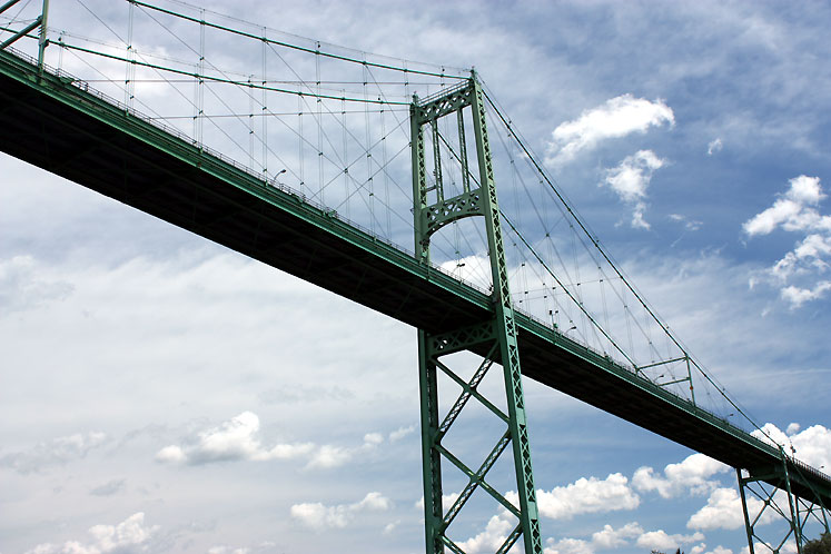 Canada Ontario Photos :: 1000 Islands :: 1000 Islands. Bridge Canada - USA
