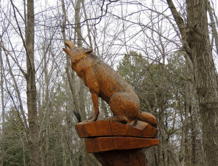 Canada Ontario Photos :: Crawford Lake Park :: Park Sculpture
