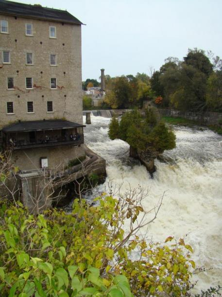 Canada Ontario Photos :: Elora :: Elora Mill Inn and Spa and Elora Gorge Falls