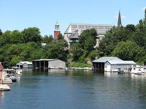 Canada Ontario Photos :: Gananoque :: Gananoque. View from St. Lawrence River