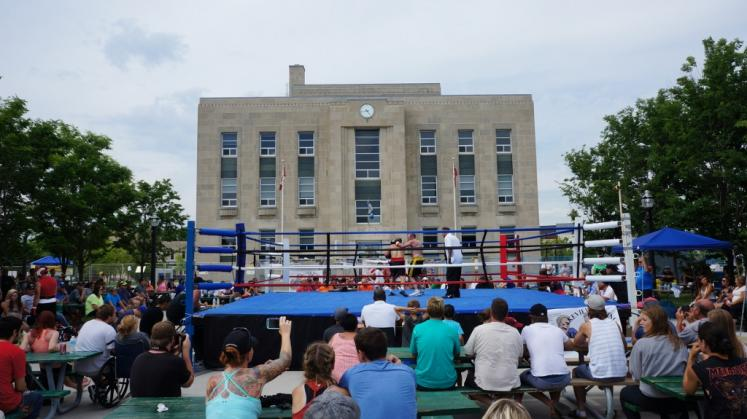 Canada Ontario Photos :: Goderich :: Boxing at Summerfest in Goderich