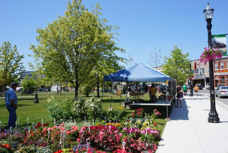 Canada Ontario Photos :: Goderich :: Farmers Market Saturday at Courthouse Park Goderich