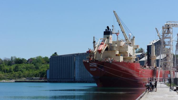 Canada Ontario Photos :: Goderich :: Freighter from Hong Kong in Goderich Harbour
