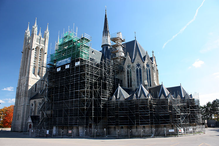 Canada Ontario Photos :: Guelph :: Guelph. The Church of Our Lady Immaculate under restoration