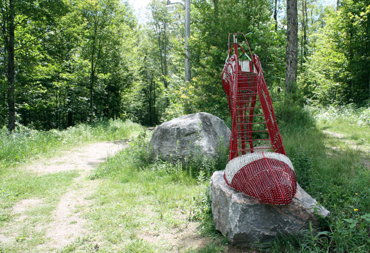 Canada Ontario Photos :: Haliburton :: Ontario. Haliburton. Sculpture forest - a shoe