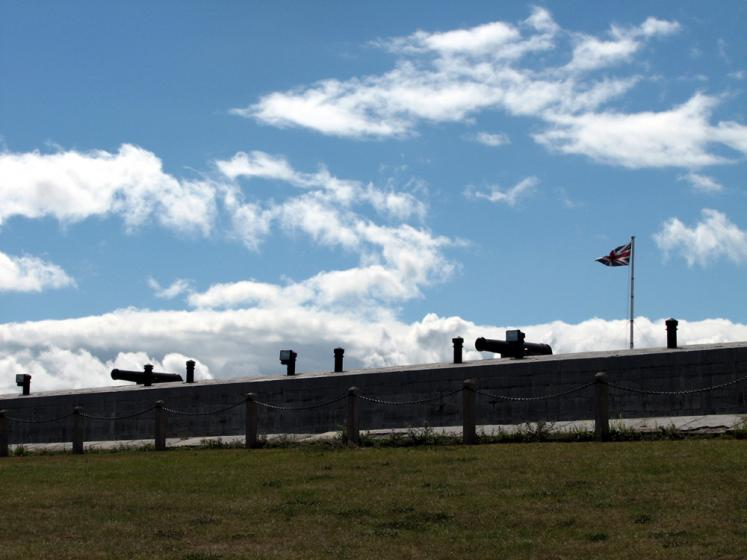 Canada Ontario Photos :: Kingston - Fort Henry :: Kingston. Canons in Fort Henry
