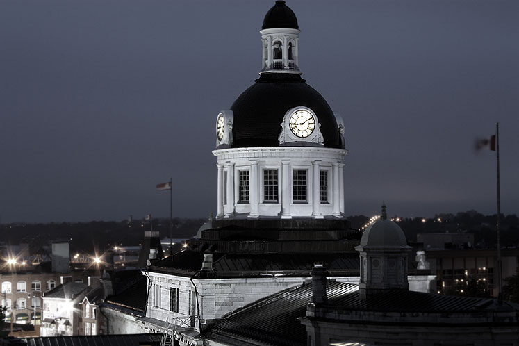World Travel Photos :: Night views :: Ontario. Kingston - municipality building