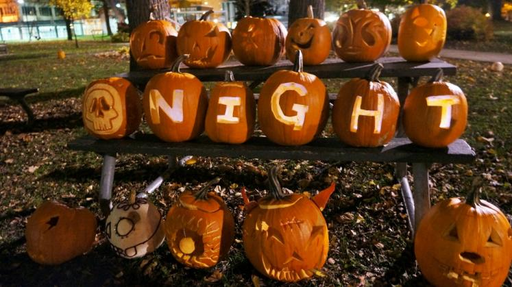 Canada Ontario Photos :: Kitchener :: Flash Mob Pumpkins for Nightshift downtown Kitchener
