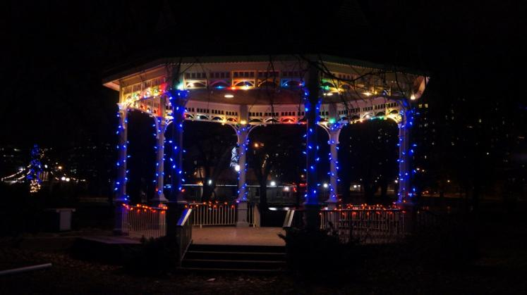 Kitchener Gazebo In Victoria Park Christmas