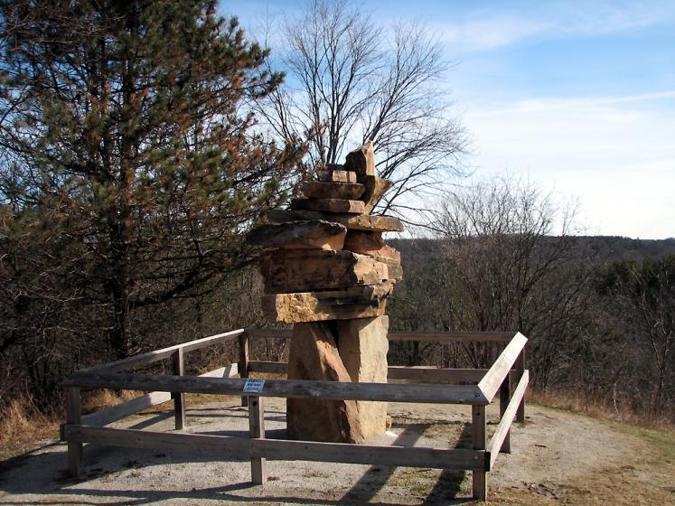 Canada Ontario Photos :: Kleinburg :: Rock statue in the park of McMichael´s museum