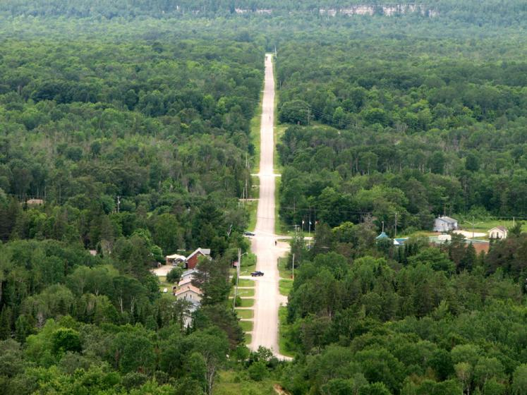 World Travel Photos :: Roads :: Manitoulin Island. A view from above