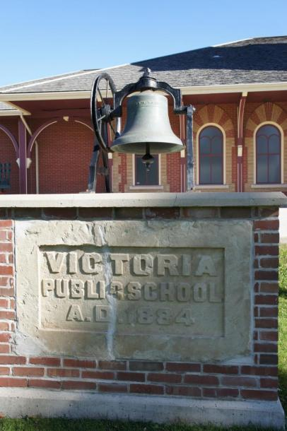 Canada Ontario Photos :: Collingwood :: Bell from Victoria Public School  A.D.1884 located at Station Museum Collingwood