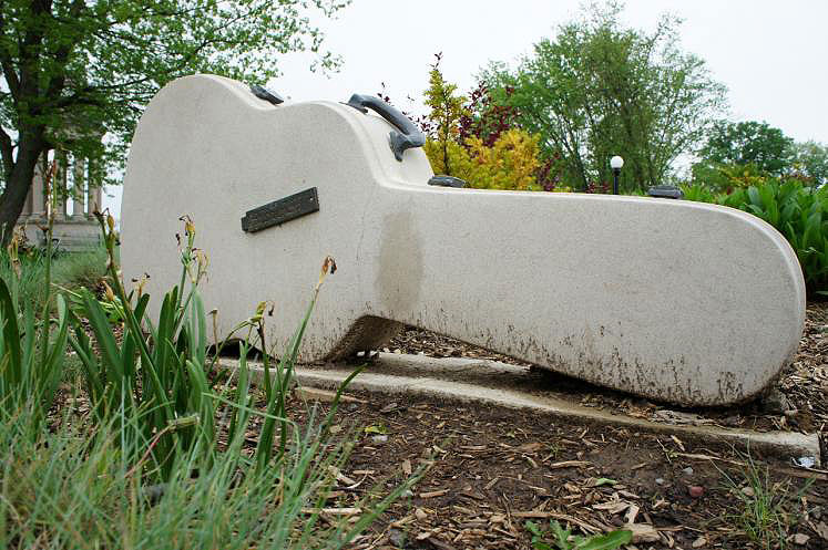 Canada Ontario Photos :: Kitchener :: Ontario. Cement Guitar Art Work located in Victoria Park Kitchener