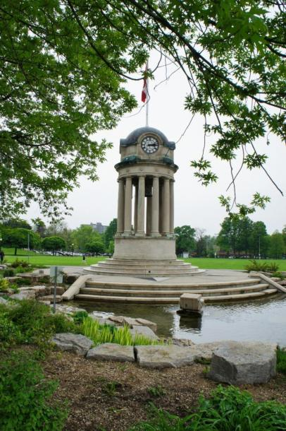Canada Ontario Photos :: Kitchener :: Historic Clock Bell Tower from old city hall located in Victoria Park Kitchener