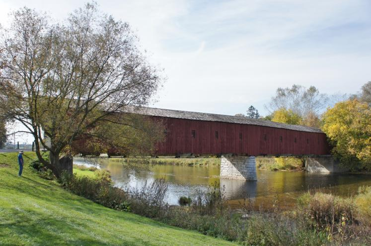 Canada Ontario Photos :: West Montrose :: Kissing Bridge West Montrose built 1881