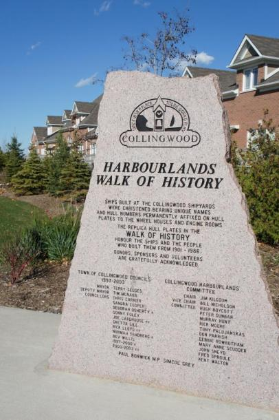 Canada Ontario Photos :: Collingwood :: Memorial Walk of History in Harbourlands Park Collingwood