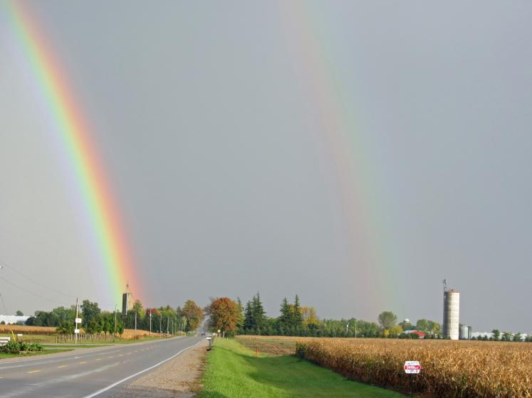World Travel Photos :: Sky :: Ontario. A Double Rainbow