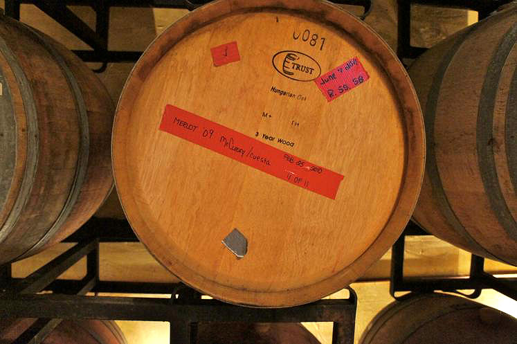 Canada Ontario Photos :: Misc :: Wine Barrel of Merlot Wine at Stoney Ridge Cellars Jordan
