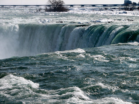 Canada Ontario Photos :: Niagara river :: Niagara Falls. Winter 2008