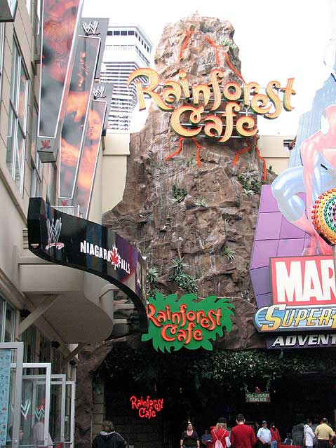 Canada Ontario Photos :: City views :: Town of Niagara Falls. Rainforest cafe