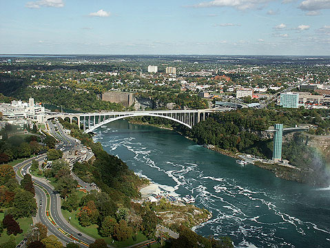 Canada Ontario Photos :: RomKri :: Niagara Falls. View of the Bridge Connecting Canadian and American Sides