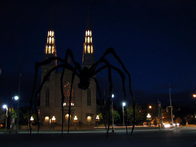 Canada Ontario Photos :: Ottawa :: Ottawa - Maman and Notre-Dame - night view
