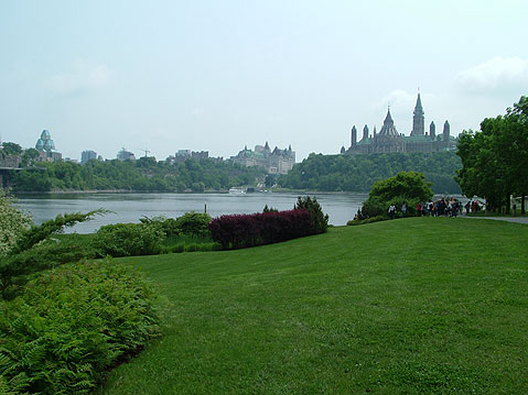 Canada Ontario Photos :: City views :: Ottawa. View on Parliament Hill from Distance