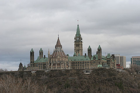 Canada Ontario Photos :: Ottawa :: Ottawa. Parliament Buldings - view from Hall