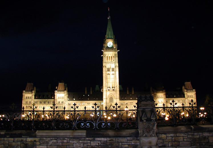 World Travel Photos :: Night views :: Ottawa. Parliament Hill at night