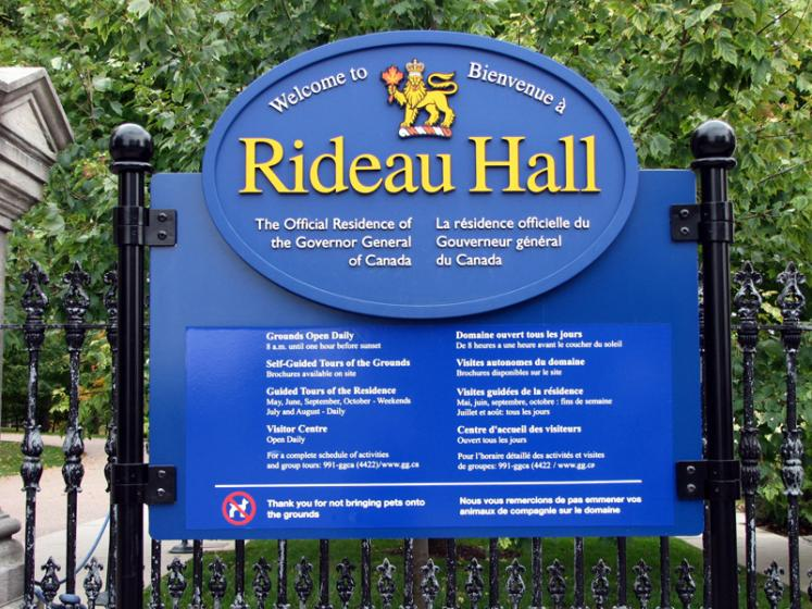Canada Ontario Photos :: Rideau Hall :: Ottawa. Rideau Hall Park Entrance
