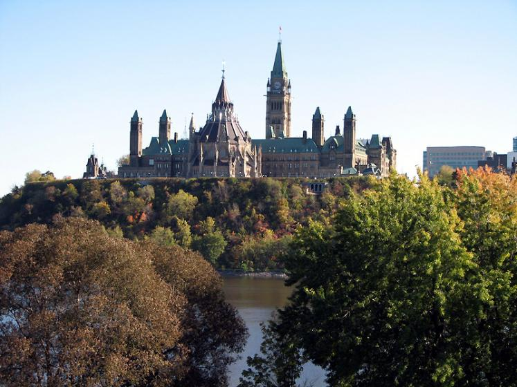 Canada Ontario Photos :: Ottawa :: Ottawa. View on Parliament Hill from Hull