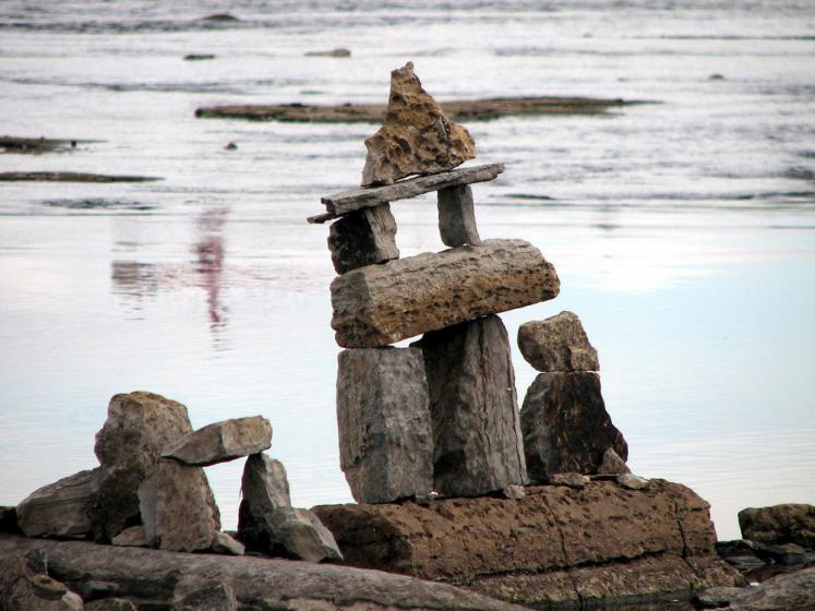 Canada Ontario Photos :: Ottawa :: Ottawa river - rock sculptures