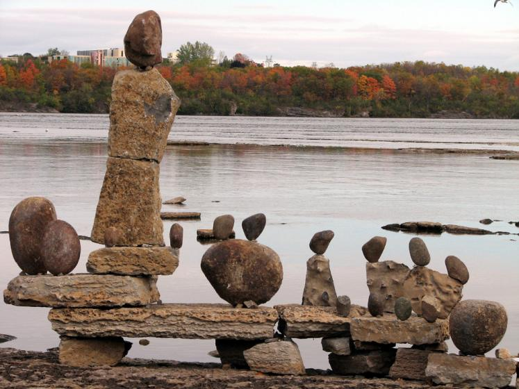 Canada Ontario Photos :: Rock Statues :: Ottawa - rock statues by the Ottawa river
