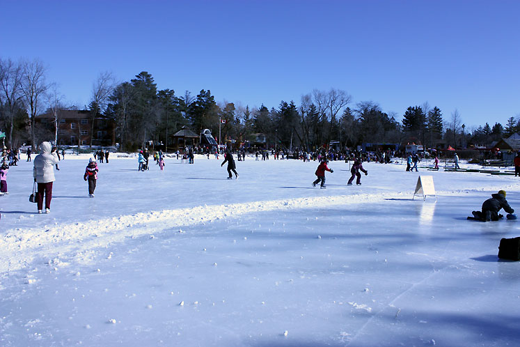 Canada Ontario Photos :: Winter :: Richmond Hill. Winter Carnival 2010 - Mill pond