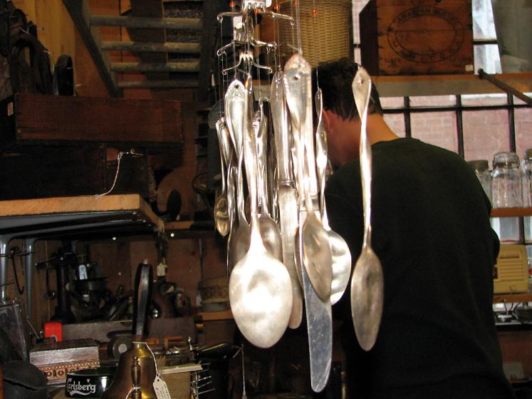 Canada Ontario Photos :: St. Jacobs :: St. Jacobs. Silver spoons