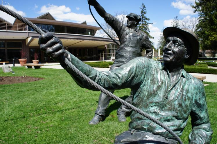 Canada Ontario Photos :: Stratford :: Ontario. Statues from Act lll Shakespeare in front of Stratford Festival Theatre