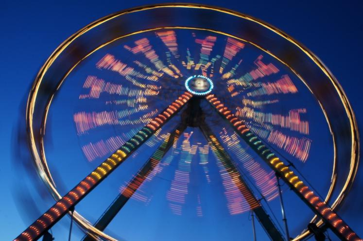 Canada Ontario Photos :: Stratford :: Stratford Fall Fair at night- long exposure