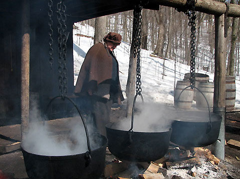Canada Ontario Photos :: Spring :: Ontario. Early spring - maple syrop making